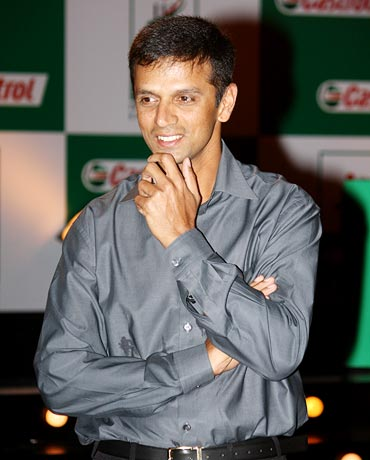 Rahul Dravid (left) with Yusuf Pathan