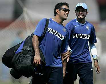 MS Dhoni and S Sreesanth