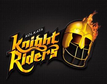 The logo of the Kolkata Knight Riders team