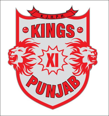The logo of the Kings XI Punjab team