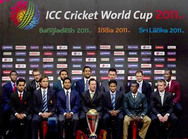 Captains press conference at the Dhaka Sheraton Hotel ahead of the opening ceremony for the 2011 ICC World Cup