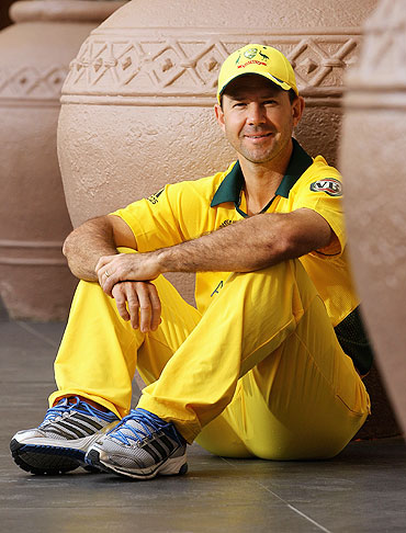 Ricky Ponting at the Marriott Courtyard Hotel, Ahmedabad on Sunday