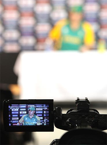 A television camera rolling at the World Cup 2011. TV coverage has been ordinary