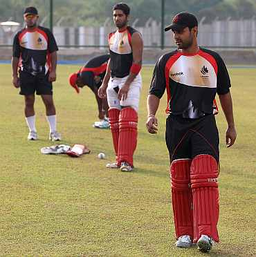 Canadian team during a practice session