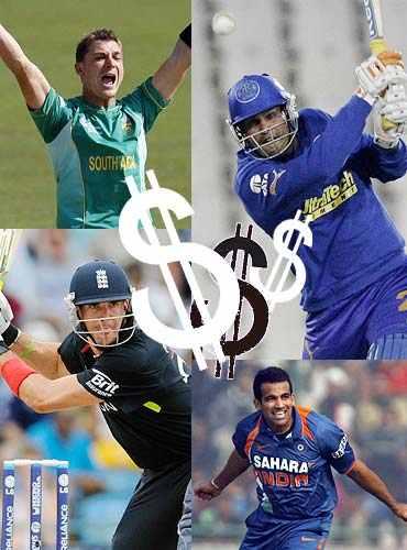 Zaheer Khan, Kevin Pietersen, Yusuf Pathan, Dale Steyn