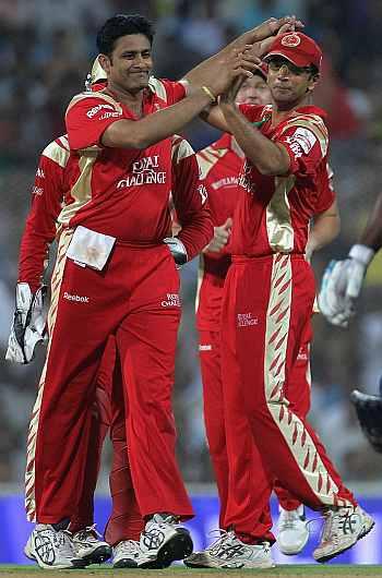 Anil Kumble and Rahul Dravid