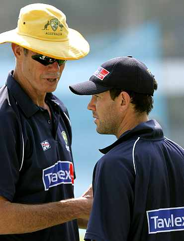 Ricky Ponting and John Buchanan