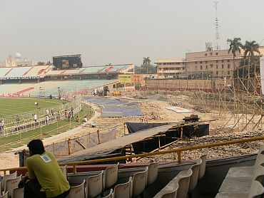 Work continues at the Eden Gardens