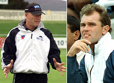 Jeff Crowe (left) and Martin Crowe
