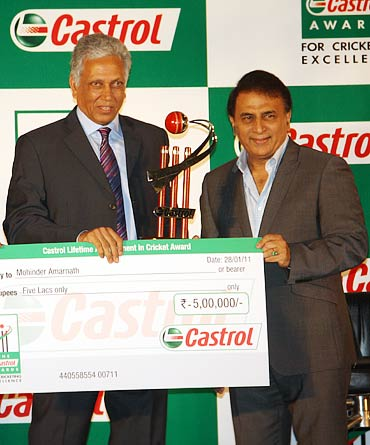 Mohinder Amarnath (left) with Sunil Gavaskar