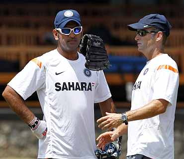 Gary Kirsten and MS Dhoni