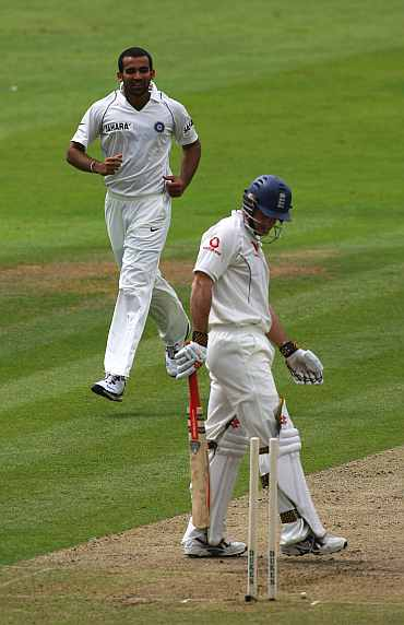 Andrew Strauss and Zaheer Khan