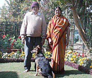 Dhoni's parents at his home in Ranchi