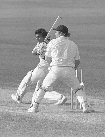 Sunil Gavaskar during his record breaking double century against England at the Oval in 1979