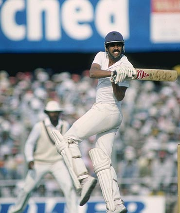Kapil Dev in action against England in 1982
