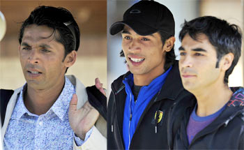 Mohammad Amir, Mohammad Asif and Salman Butt