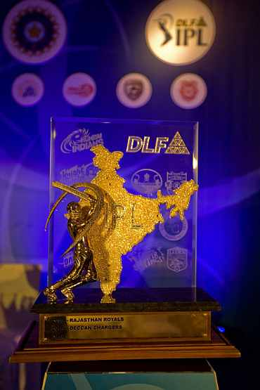 The old IPL trophy
