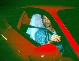 Tendulkar in the Ferrari