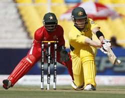 Brad Haddin in action against Zimbabwe