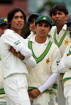 Amir, Butt and Asif during the Pakistan England match at Lord's