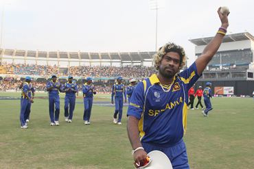Lasith Malinga after his hat-trick against Kenya