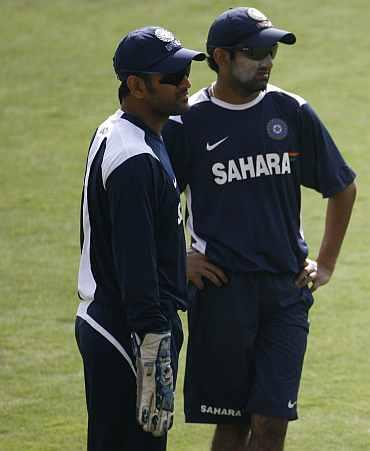 Gautam Gambhir and MS Dhoni