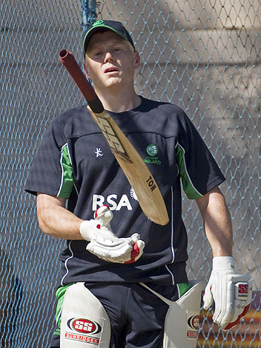 Kevin O'Brien during a net session
