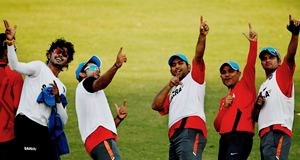 Team India in training