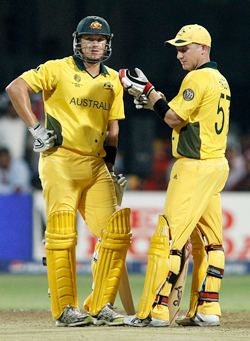 Watson and Haddin during their record partnership