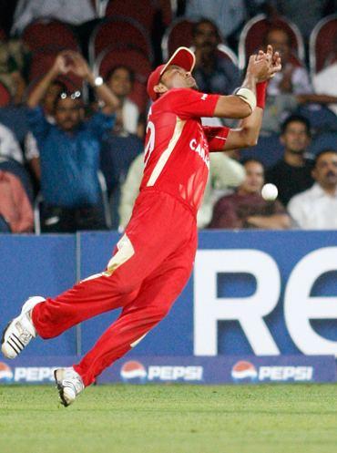 Rizwan Cheema drops a catch off Shane Watson