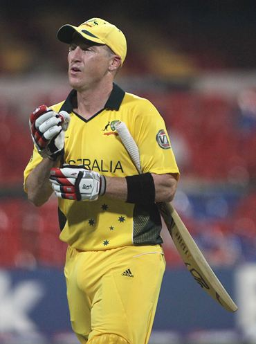 Haddin walks back after being dismissed