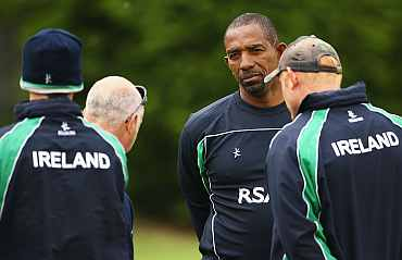 Phil Simmons during a training session