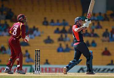 Andrew Strauss plays a shot on the leg side