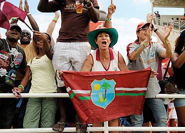 West Indies fans in Kingston