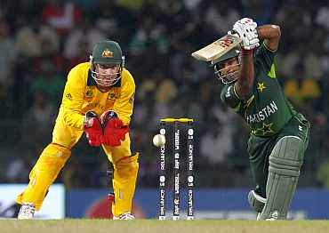 Asad Shafiq plays a shot