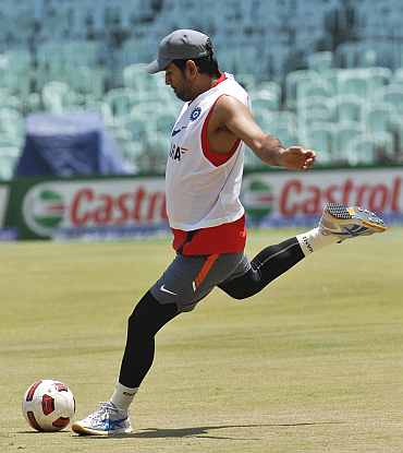 Ms Dhoni during a practice session in Chennai
