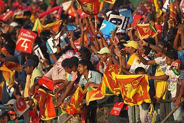 Sri Lankan fans during a match in Colombo