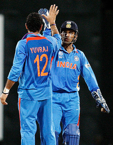 Yuvraj Singh and Mahendra Singh Dhoni