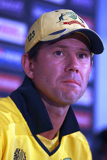 Ricky Ponting during the post match conference