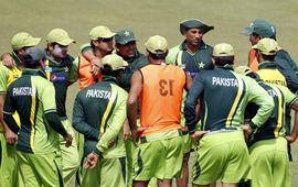 The Pakistan players