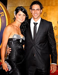 Mitchell Johnson with Jessica Bratich