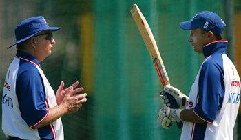 Duncan Fletcher with former England captain Nasser Hussain