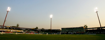 A floodlit Gaddafi stadium
