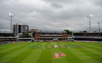 Lights come up at Lord's