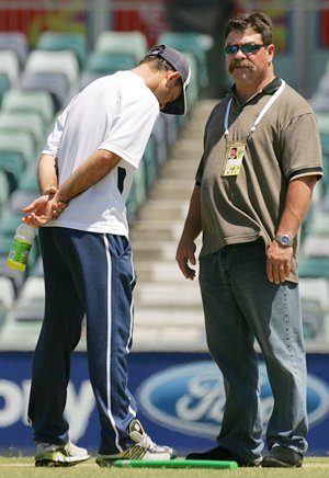 David Boon with Australia captain Ricky Ponting