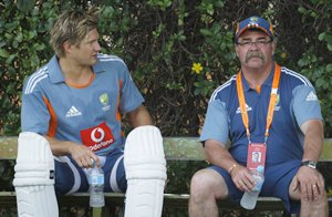 David Boon (right) with Shane Watson