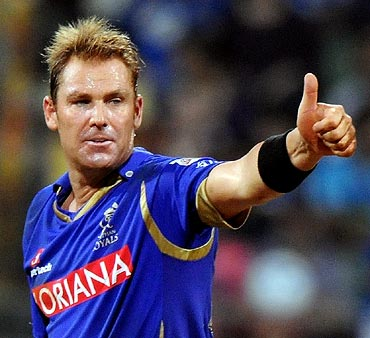Rediff Sports - Cricket, Indian hockey, Tennis, Football, Chess, Golf - Warne returns as mentor to resurrect Royals' fortunes
