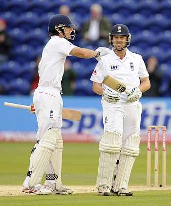 Alastair Cook and Johnathan Trott