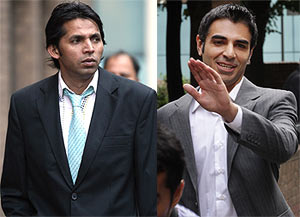 Mohammad Asif (left) with Salman Butt