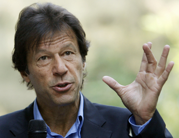 Former cricketer-turned-politician Imran Khan